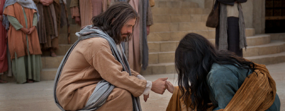 jesus with woman